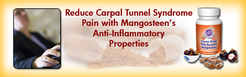 Natural Home Cures Freeze Dried Rich Pericarp Mangosteen For Carpal Tunnel Syndrome