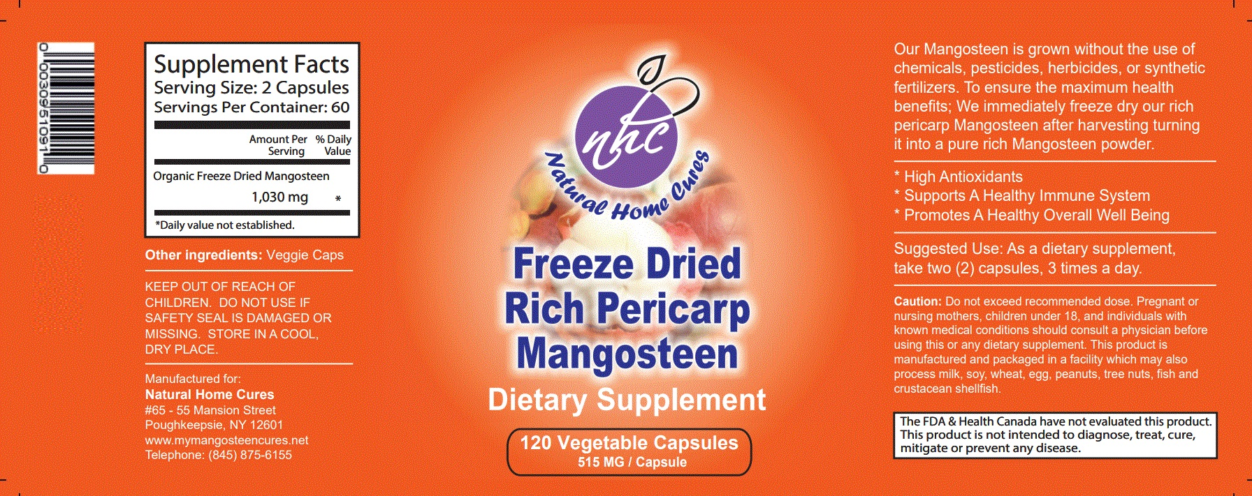 Mangosteen Product Label